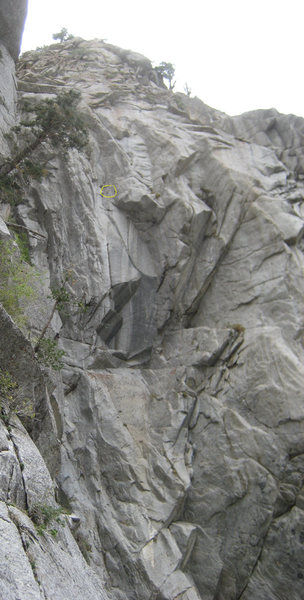 Rock Climbing Photo: Where's Ionosphere? I circled a set of anchors tha...