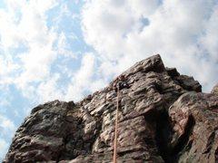 Rock Climbing Photo: Near the top of Cactus Platform Face.