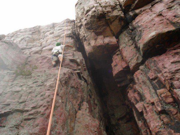 Rock Climbing Photo: Half way up Alexandra David Neal.