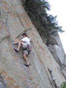 Rock Climbing Photo: Klophaus cruxing on Pudgy Gumbies. The perspective...