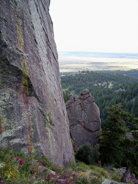 Rock Climbing Photo: Asahi from uphill.