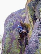 Rock Climbing Photo: Brian approaching the crux.