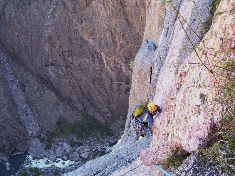 Rock Climbing Photo: Matt on pitch 10.