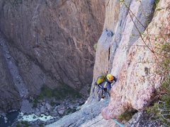 Rock Climbing Photo: Matt on pitch 10.