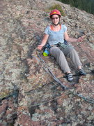 Rock Climbing Photo: Alyce Smith examines my handy Chicken Head Anchor ...