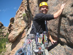Rock Climbing Photo: Geared up for the FA of Lost in the Jungle (5.8+)....