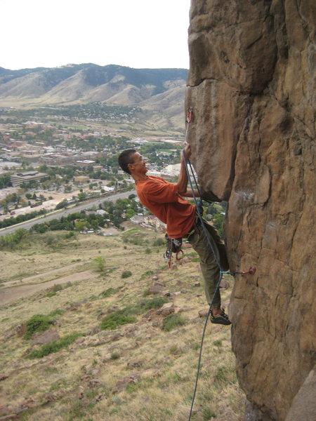 Rock Climbing Photo: Andy Nguyen Flashing NRG Homesick Blues.  Photo by...