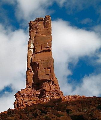 West face of castelton