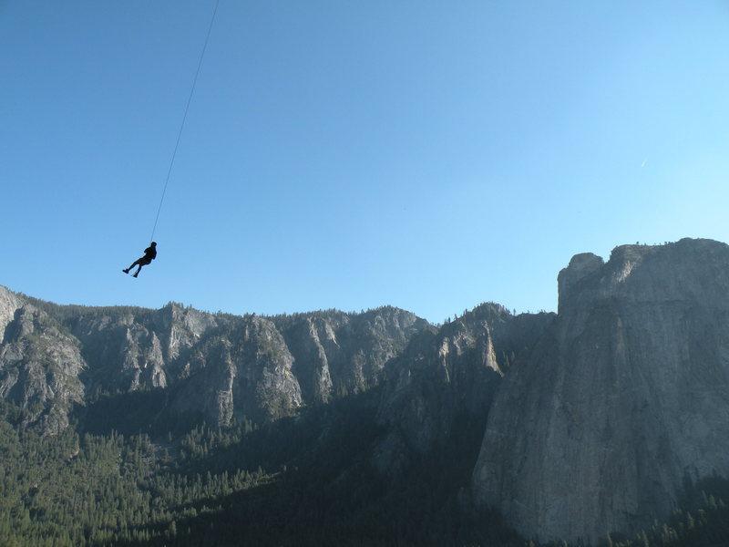 Rock Climbing Photo: The porch swing on El cap