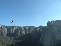 Rock Climbing Photo: The porch swing on El cap