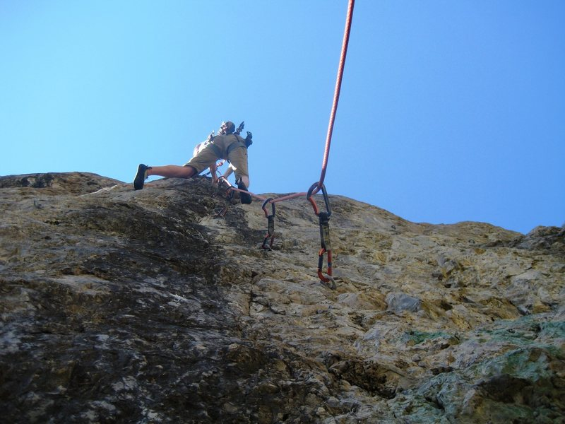 Rock Climbing Photo: Blown away by the crux.