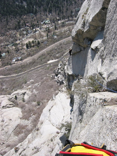 Rock Climbing Photo: Lance following pitch 3 of The Gills in April, 200...