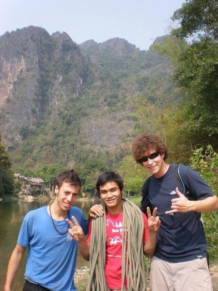 climbing in Laos