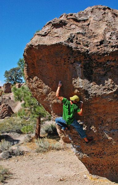 Rock Climbing Photo: Hitting the small but good 2-finger pocket