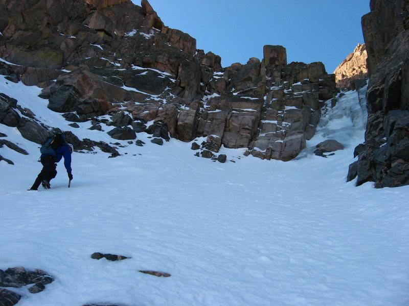 Rock Climbing Photo: Good ice on The Flying Dutchman on 9-29-08.  Photo...