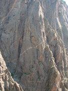 Rock Climbing Photo: Escape Artist Buttress from RUSSIAN ARETE. Climber...