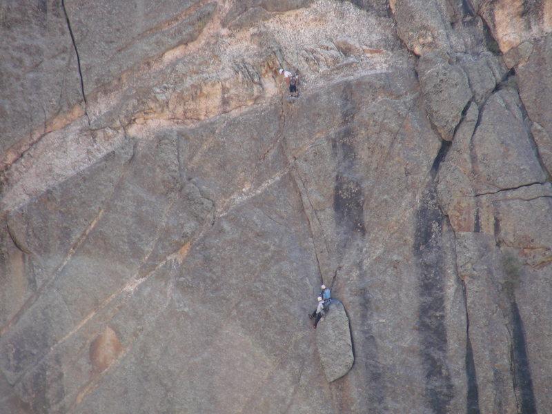 Rock Climbing Photo: Climbers on COMIC, 9-28-08.