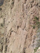 Rock Climbing Photo: Rip @ the top of pitch 6, the hardest technical se...