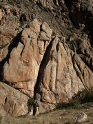 Rock Climbing Photo: The left edge of this face.  There is a double bol...