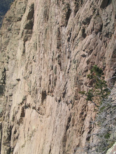 Rock Climbing Photo: Rip starting up pitch 7 of The Promise Land, MattL...