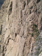 Rock Climbing Photo: Rip starting up pitch 7 of The Promise Land, MattL...