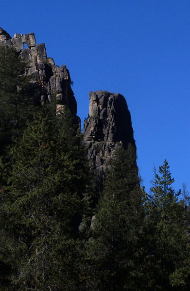 Rock Climbing Photo: Side view of the pinnacle.
