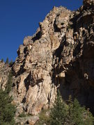 Rock Climbing Photo: Left side - Chucky Cheese is in the upper center o...
