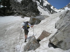 Rock Climbing Photo: on the hike to the lower saddle, looking like a x-...
