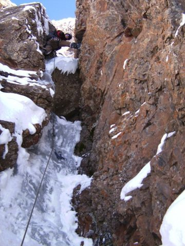 Rock Climbing Photo: Nice variation to the first pitch of Condition Blu...