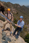Rock Climbing Photo: Nate & Mike Conroy hanging out atop the first pitc...