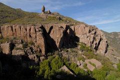Rock Climbing Photo: A view of Echo Cliffs (with Balanced Rock looming ...