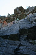 Rock Climbing Photo: Elmo & Reed at first set of anchors, following Ree...
