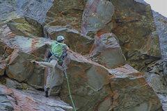 Rock Climbing Photo: Moving thru Crux of K-9 Shanghai.