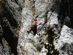Rock Climbing Photo: me on lead