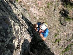 Rock Climbing Photo: Shayd enjoying some nice clean rock, The Needle-20...
