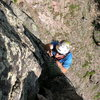 Shayd enjoying some nice clean rock, The Needle-2006.