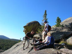 Rock Climbing Photo: At the top of the same climb, shortly before the s...
