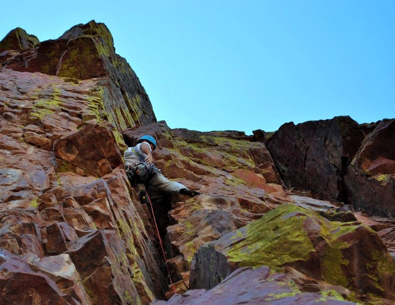Rock Climbing Photo: Paul S nabs the second ascent of this fine trad li...