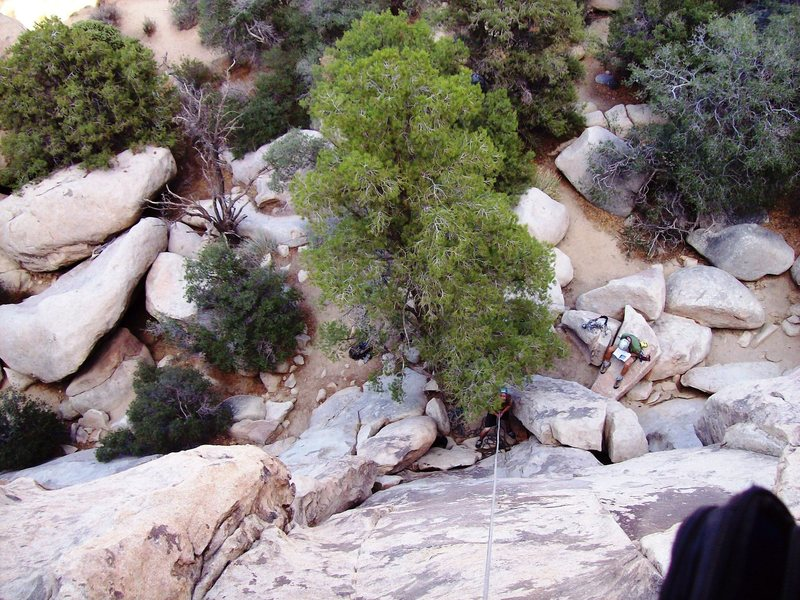Rock Climbing Photo: Looking down from the top of Beck's Bear