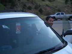 Rock Climbing Photo: FHAist Tony Bubb prepares for Umph Slot (First Han...