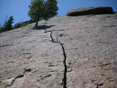 Rock Climbing Photo: the crack on the thing