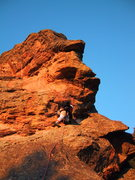 Rock Climbing Photo: Yup, guess it goes this way.  The unusual rock col...