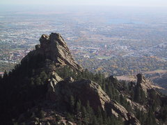 Rock Climbing Photo: The First Flatiron, Sunset Flatironette, and Secon...
