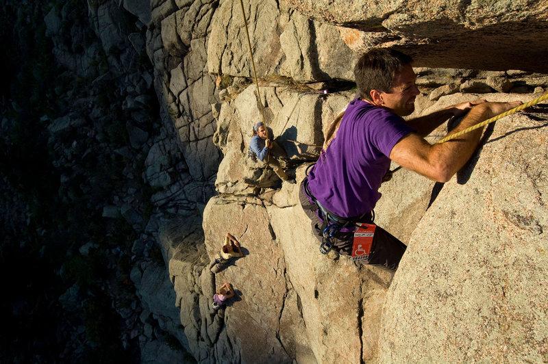 Rock Climbing Photo: Umph Slot Assault - Tony at bat.
