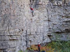 Rock Climbing Photo: M.L. on RB&V 9.29.08.