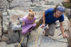 Rock Climbing Photo: Joshua highly recommends wearing a long sleeve shi...
