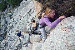 Rock Climbing Photo: Kateri looks like she's actually having fun!??!