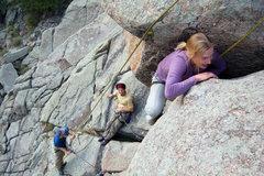 Rock Climbing Photo: Kateri on the Umph Slot.