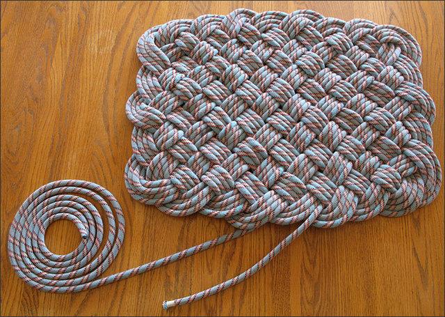 Коврики своими руками из верёвки 23
