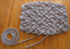 Rock Climbing Photo: Done weaving!  This photo show how much of the 60m...